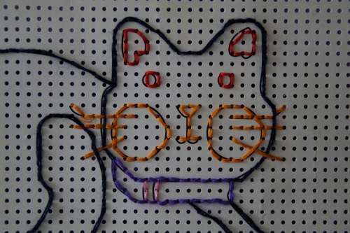 Cat Tinker Embroidery Kindergarten Child Children