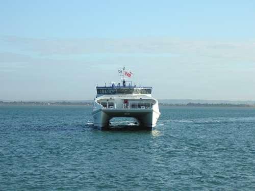 Catamaran Ferry Nautical Boat Ship Vessel Sea