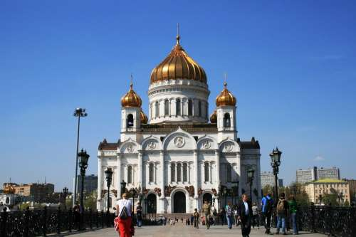 Cathedral Russian Orthodox Religion Architecture