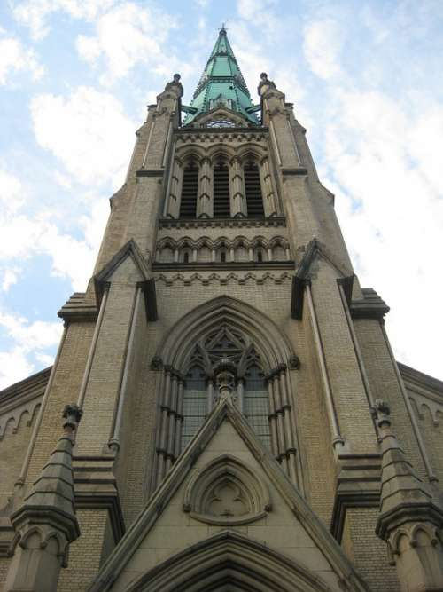 Cathedral Spire Anglican Architecture Tower