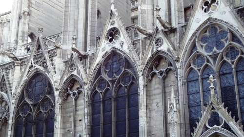 Cathedral Notre Dame Stained Glass Windows Paris
