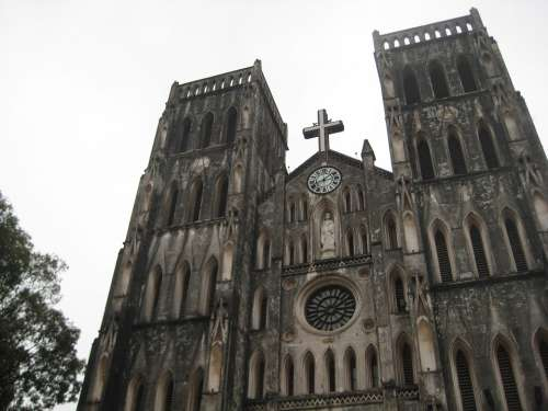 Catholic Church Hanoi Vietnam Architecture Religion
