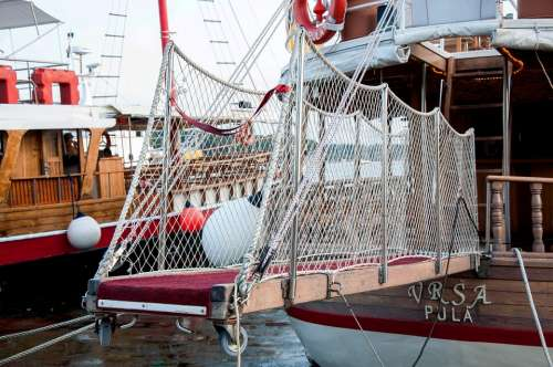 Catwalk Boat Sea Croatia Istria