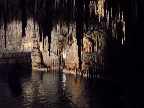 Cave Dragon'S Lair Mallorca Stalagmites Speleothems