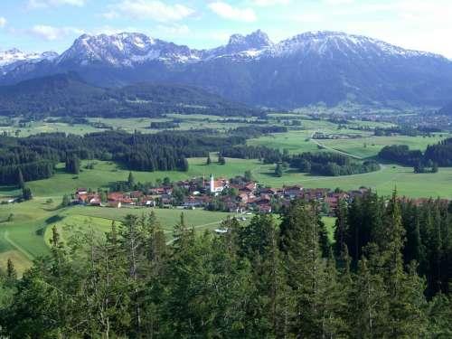 Cell Ostallgäu Mountain Panorama Aggenstein