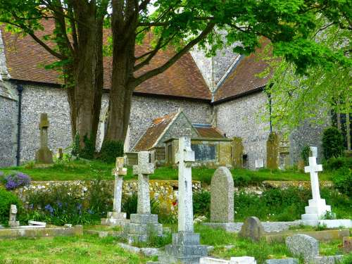 Cemetery Grave Graves Cross Crosses England