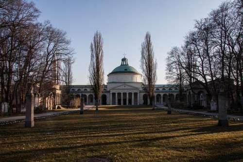 Cemetery Park Architecture Columnar Building
