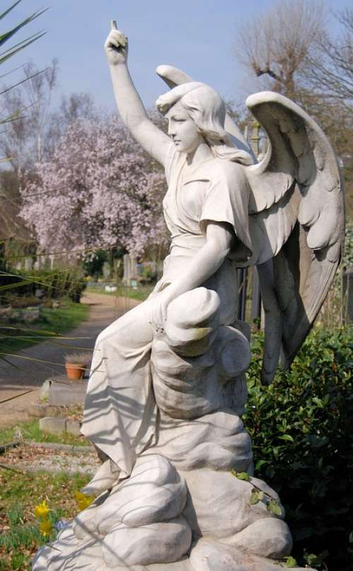 Cemetery Tombstone Grave Sculpture Monument Female