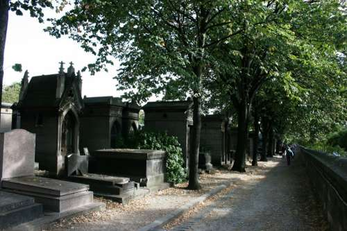 Cemetery Tombs Pere Lachaise Paris