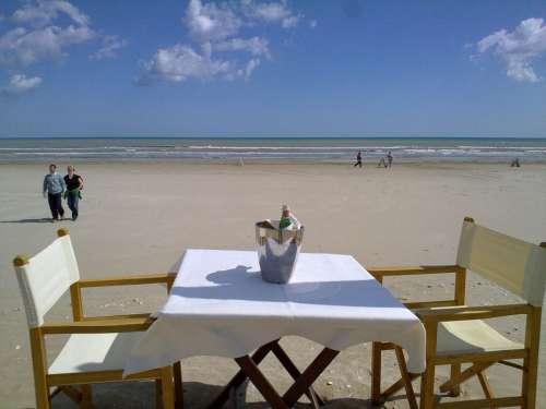 Cervia Sea Beach Sun Holiday Table Restaurant