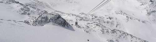 Cervinia Mountain Cable Car Sci