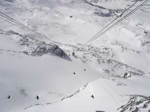 Cervinia Mountain Cable Car Sci