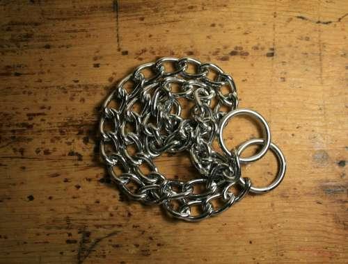 Chain Metal Shiny Links Long Wood