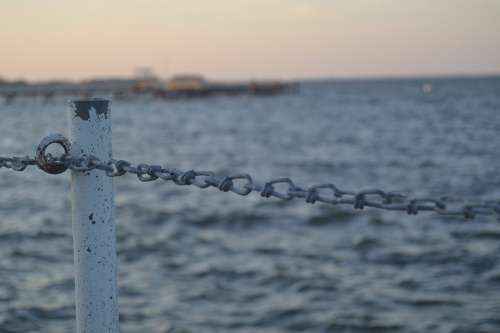Chain Barrier Sea Baltic Sea Nature Landscape