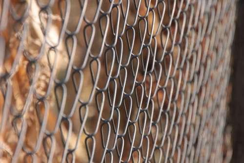 Chain Fence Fencing Galvanized Link Metal Wire