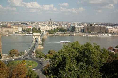 Chain Bridge Budapest Hungary Bridge Danube River