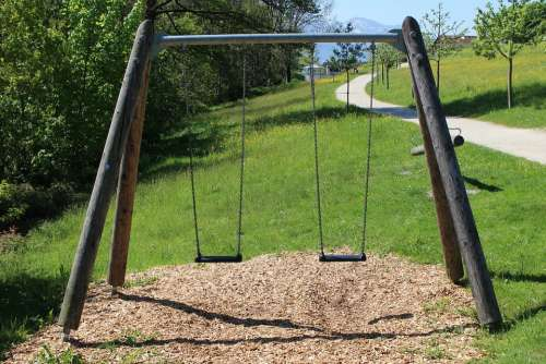 Chains Swing Swing Rock Playground Swing Device