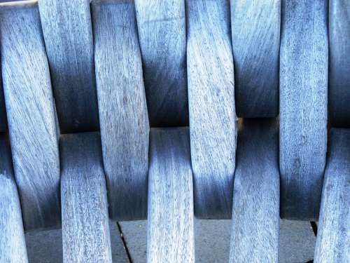 Chair Wood Furniture Battens Close Up Brown Grey