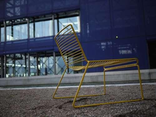 Chair Yellow Blue Denmark Copenhagen Dr Byen