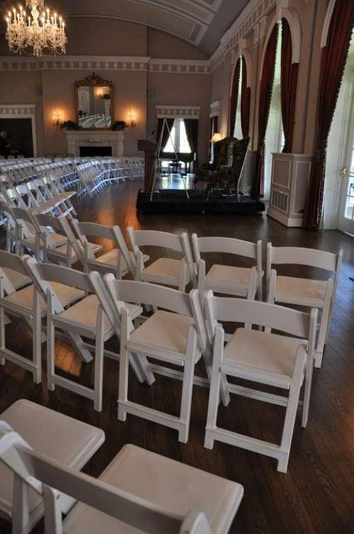 Chairs Hall Saloon Speech Talk Speaker