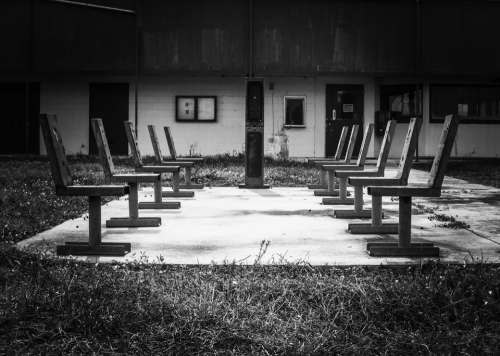 Chairs Empty Abandoned Ghost Town Buildings