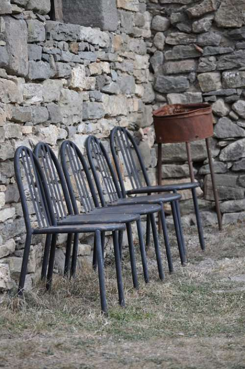 Chairs Rustic Iron