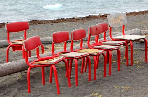 Chairs Spectators Red