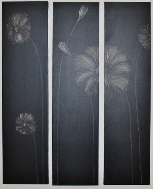 Chalk Drawing Wood Panels Wall Tiling Image