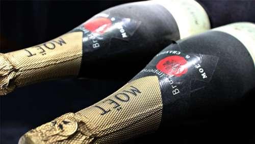 Champagne Champagne Bottles Hatching Bottles France