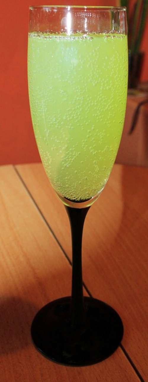 Champagne Glass Glass Drink Lime Cocktail