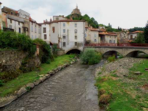 Champeix France Stream Buildings Architecture