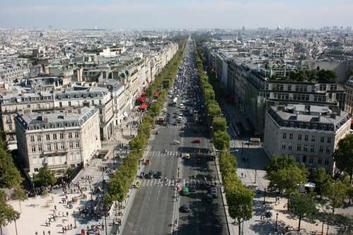 Champs Elysees Champs Elysees Avenue Paris