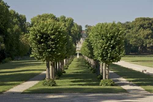 Chantilly France Landscape Sky Clouds Trees