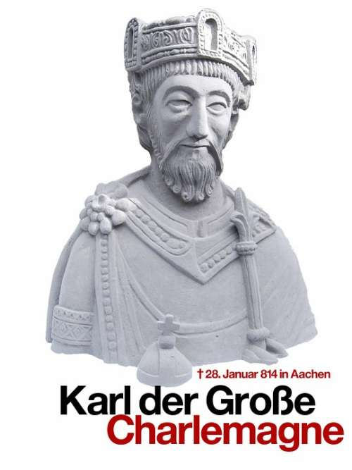 Charles The Great Statue Figure King Crown Aachen