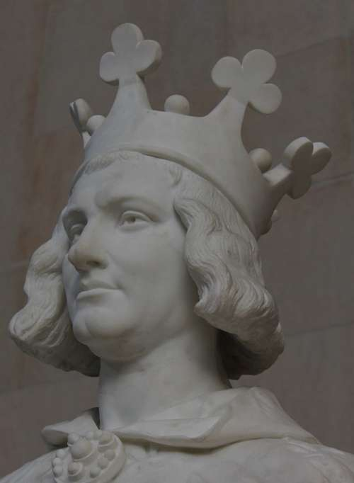 Charles The Great Statue Crown Man Figure King