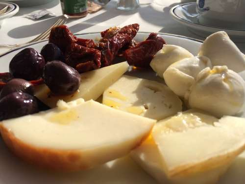 Cheese Italy Sun Dried Tomatoes Dairy Food Snack