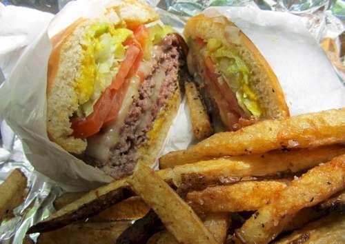 Cheeseburger French Fries Fries Burger Sandwich