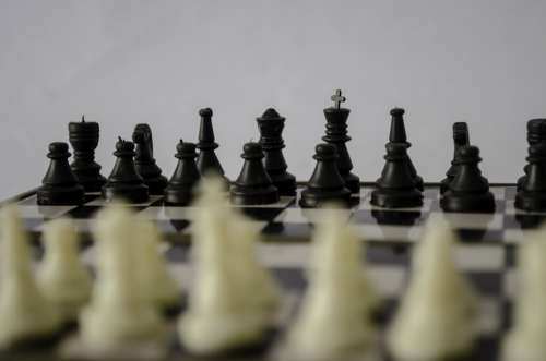 Chess Chess Board Strategy Game Black White