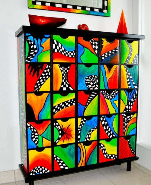 Chest Of Drawers Colorful Decorative Drawers