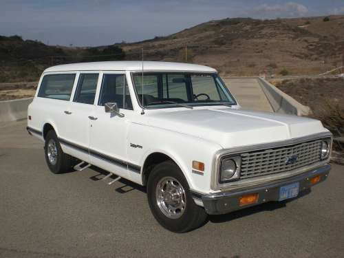 Chevrolet Vintage Suburban Truck Vehicle