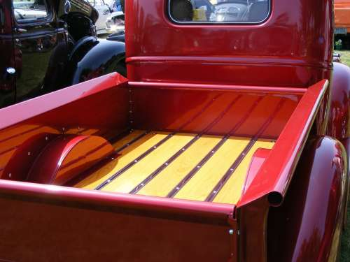 Chevrolet Chev 1946 Red Pickup Truck Box Deck
