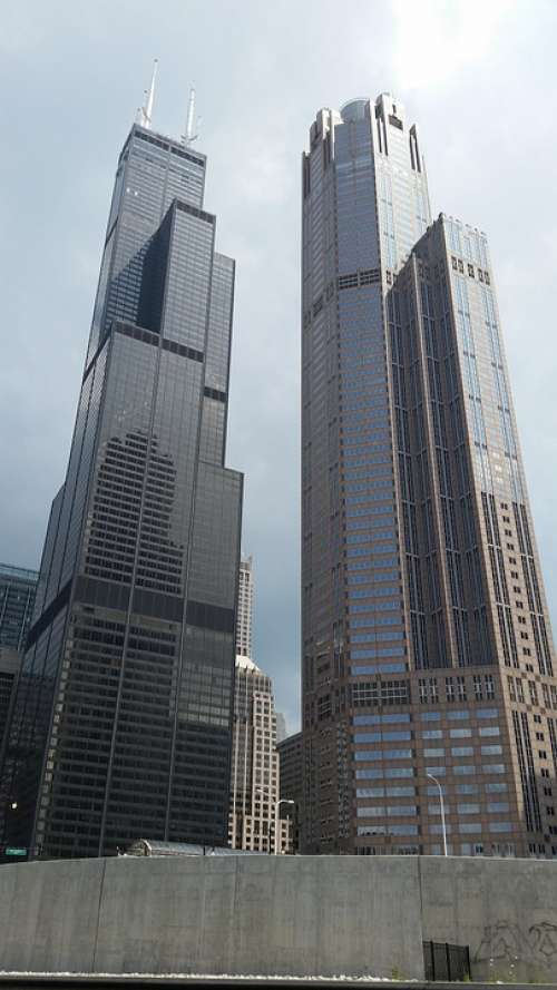 Chicago Sears Tower Tower City Illinois Skyline