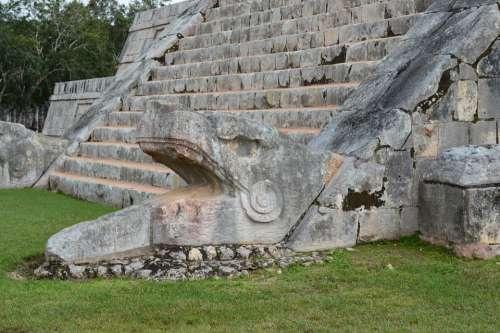 Chichen Itza Temple Ruinas Mexico Maia Yucatan
