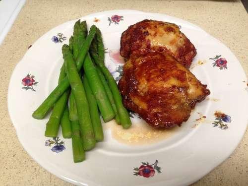 Chicken Asparagus Food