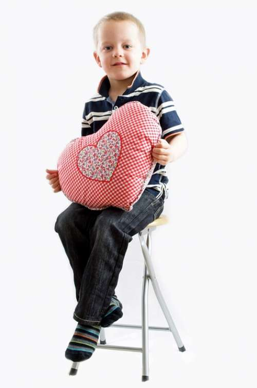 Child Boy Kid Heart Valentine Love Romance