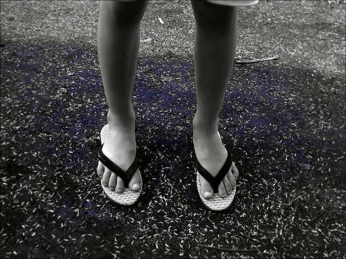 Child Sandals Flip Flops Walk Legs Girl