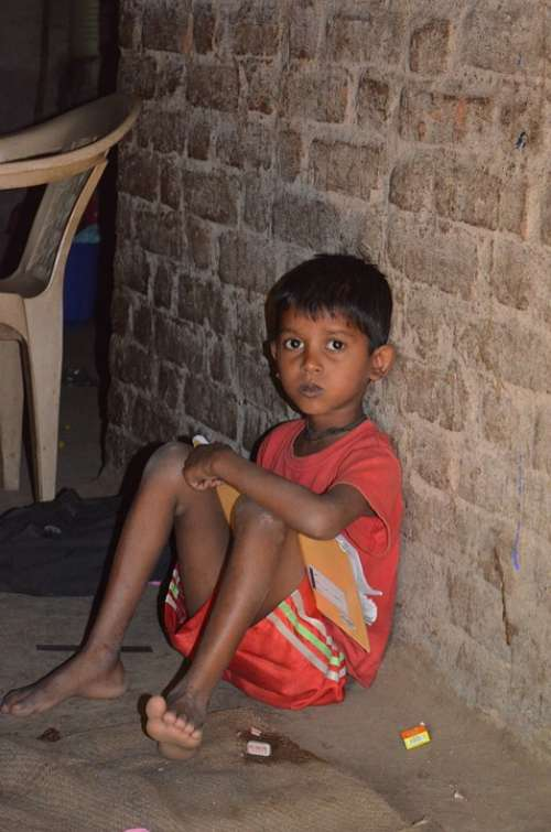 Child Indian Boy India Poor Children