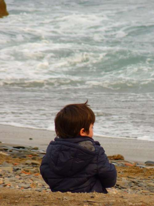Child Sea Beach Wave Vacations Sea View