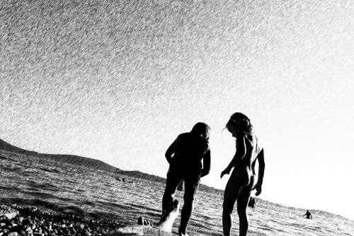 Children Sea Playing Boy Girl Holidays Beach