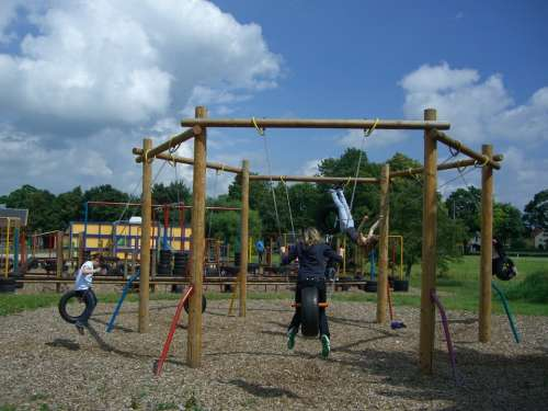 Children'S Playground Langenau Fun Arena Tire Swing